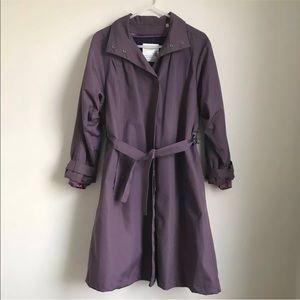 Vintage London Towne Retro Purple Trench Coat